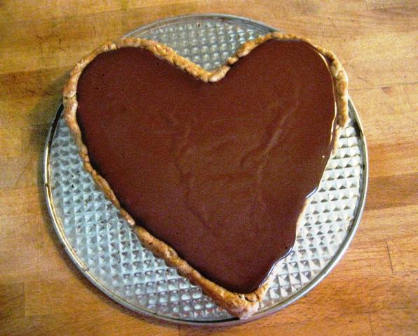 chocolate tart heart