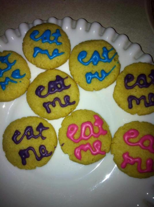 Bobbie's birthday cookies, they did indeed, get eaten!