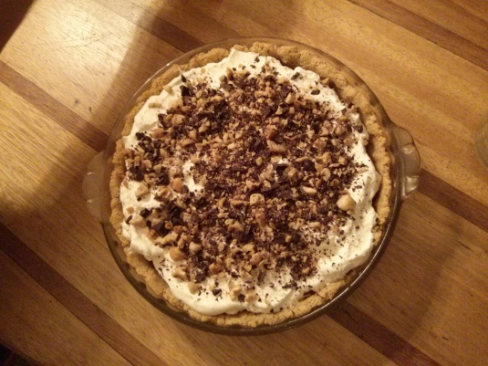 Chocolate Hazelnut Pudding Pie